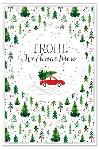 Weihnachtskarte Tanne Auto
