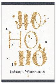 Weihnachtskarte Ho Ho Ho