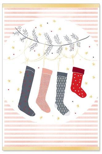 Weihnachtskarte Socken