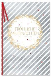 Weihnachtskarte Streifen
