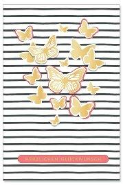 Geburtstagskarte Schmetterlinge