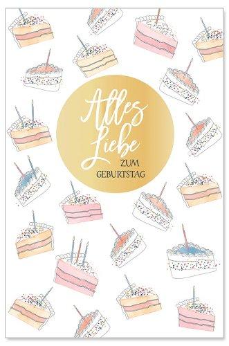 Geburtstagskarte Alles Liebe Tortenstücke