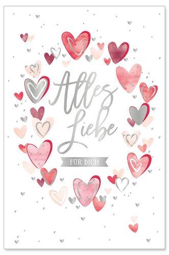 Geburtstagskarte Alles Liebe Herzen