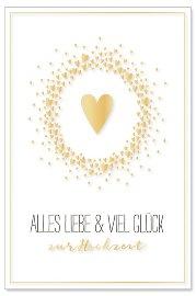 Hochzeitskarte Herz Grüße zur Hochzeit