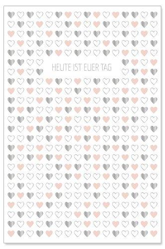Hochzeitskarte Herzen Heute ist euer Tag