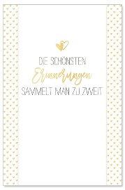 Hochzeitskarte Herzen Erinnerungen