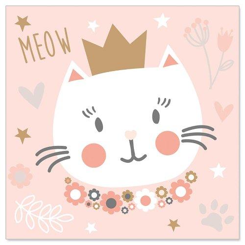Minikarte Kätzchen Krone
