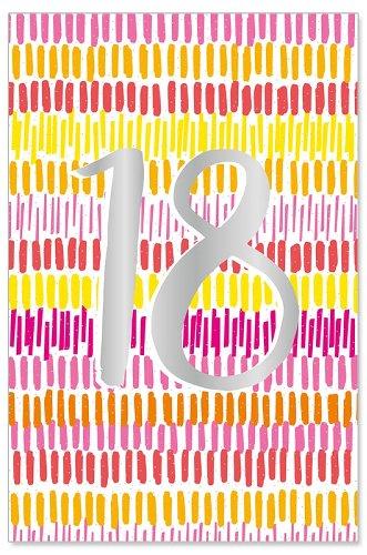 Geburtstagskarte 18 Rot