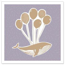 Minikarte Wal Luftballons