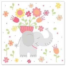 Minikarte Elefant Rosa