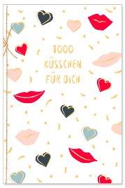 Grußkarte Spruch 1000 Küsschen