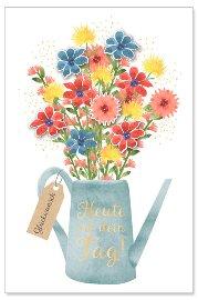 Geburtstagskarte Blumenstrauß 3D