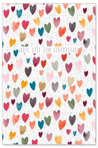 Geburtstagskarte Herzen