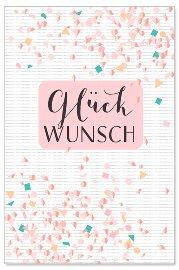 Geburtstagskarte Konfetti Spruch Glückwunsch