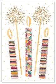 Geburtstagskarte Kerzen Glitter