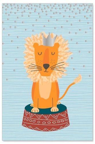 Grußkarte Kids Löwe