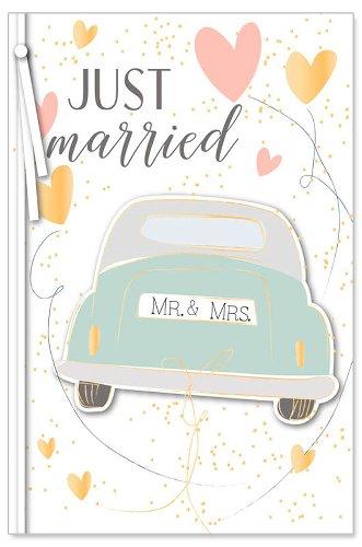 Hochzeitskarte Auto 3D