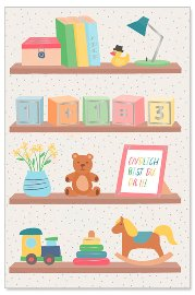 Karte Baby Spielzeug