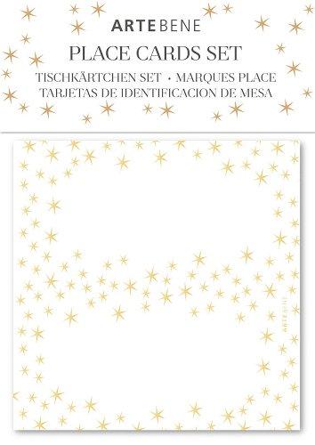 Tischkärtchen 10er-Set Sterne