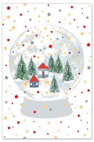 Weihnachtskarte Schneekugel