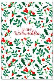 Weihnachtskarte Mistelzweige Spruch Frohe Weihnachten