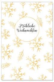 Weihnachtskarte Eissterne Spruch Fröhliche Weihnachten