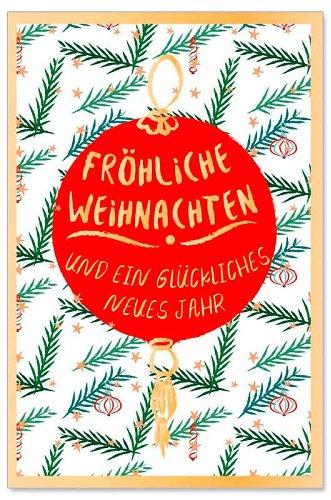 Weihnachtskarte Christbaumkugel