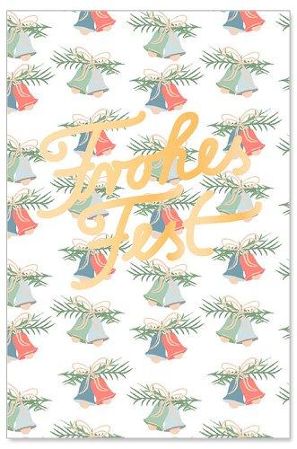 Weihnachtskarte Glocken Spruch Frohes Fest