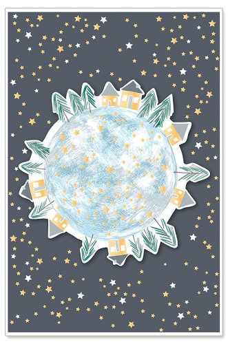 greeting card/foil/glitter