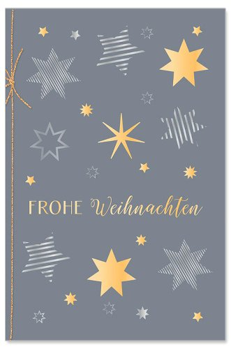 Weihnachtskarte Sterne Kordel