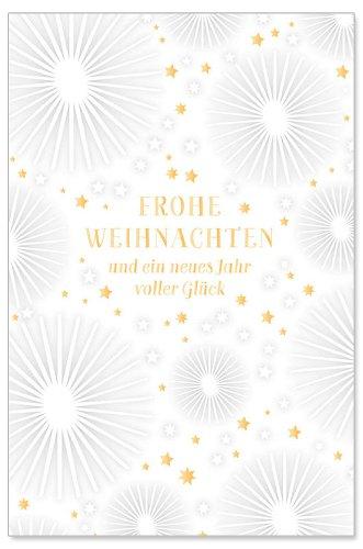 Weihnachtskarte Sterne Spruch Frohe Weihnachten