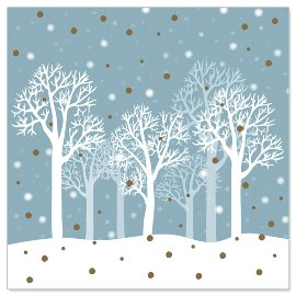 Minikarte Winterwald