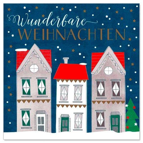 Minikarte Weihnachtsdorf Spruch Wunderbare Weihnachten