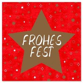 Minikarte Stern Spruch Frohes Fest