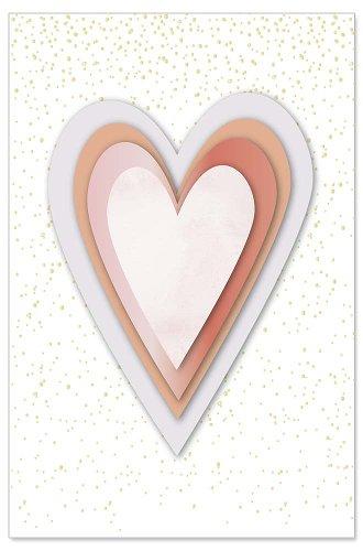 Greeting card heart 3D