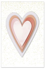 Greeting card heart 3D