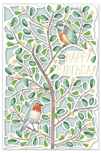Geburtstagskarte Vögel Spruch Happy Birthday