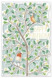 Birthday card birds