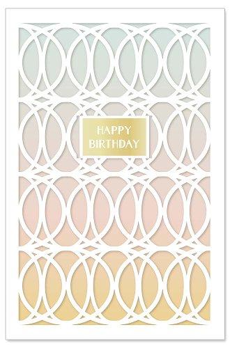 Geburtstagskarte Kreise Spruch Happy Birthday