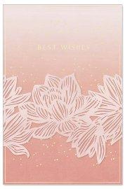 Grußkarte Banderole Spruch Best Wishes