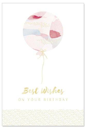 Geburtstagskarte Luftballon Spruch Best wishes on your birthday