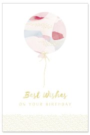 Birthday card balloons
