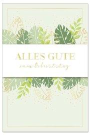 Geburtstagskarte Blätter Spruch Alles Gute zum Geburtstag