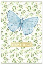 Geburtstagskarte Schmetterling Spruch Happy Birthday