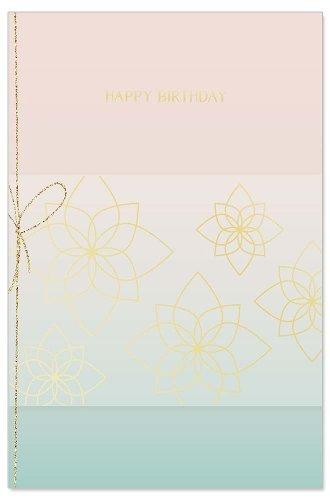 Geburtstagskarte Blüten Spruch Happy Birthday