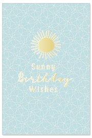 Geburtstagskarte Sonne Spruch Sunny Birthday Wishes