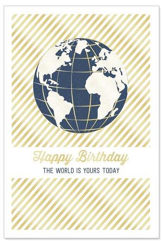 Birthday card globe