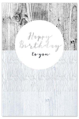 Geburtstagskarte Holz Spruch Happy birthday to you
