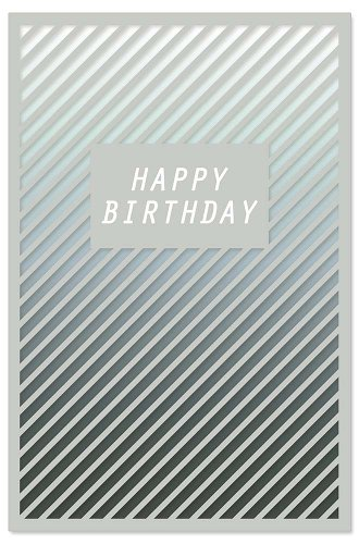 Birthday card stripes
