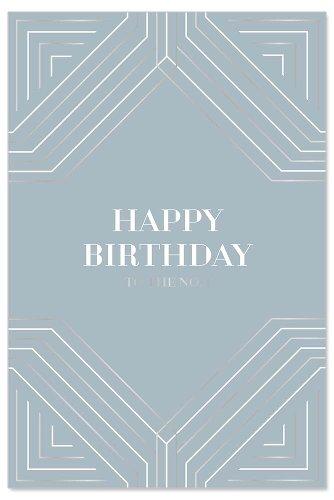 Geburtstagskarte Linien Spruch Happy Birthday